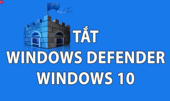 Hướng dẫn tắt Windows Defender Antivirus trong win 10-VSUDO Blog