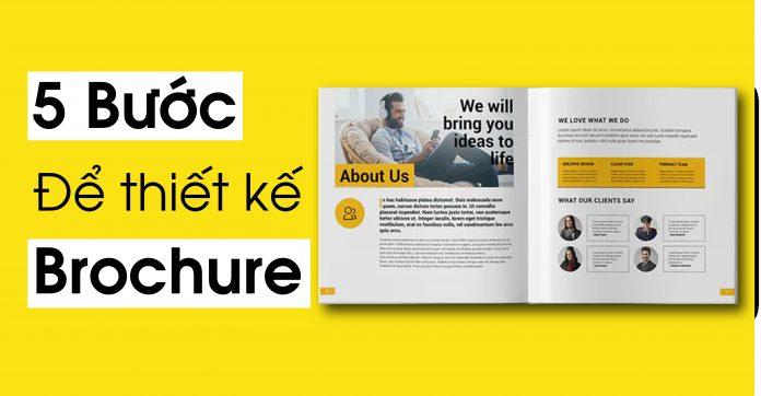 5 bước để thiết kế brochure