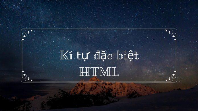kí tự đặc biệt html